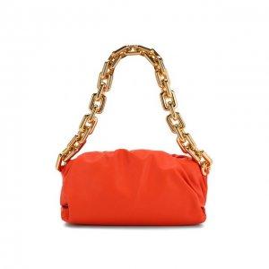 Сумка Chain Pouch Bottega Veneta. Цвет: оранжевый