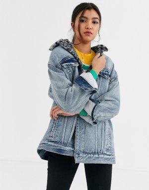 Джинсовая куртка на подкладке Wild Ones-Черный Free People