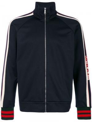 Куртка ветровка с контрастными полосками Gucci. Цвет: синий