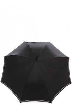 Зонт-трость с фигурной ручкой Alexander McQueen. Цвет: чёрно-белый