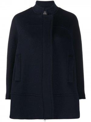 Пальто с потайной застежкой Gianluca Capannolo. Цвет: синий