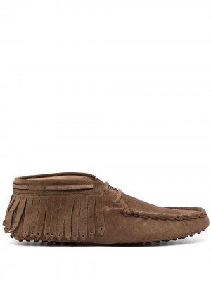Tods ботинки дезерты Gommino с бахромой Tod's. Цвет: коричневый
