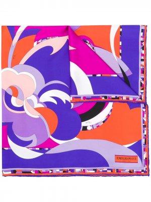 Шарф с графичным принтом Emilio Pucci. Цвет: оранжевый