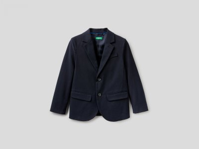 Классический пиджак Benetton. Цвет: синий