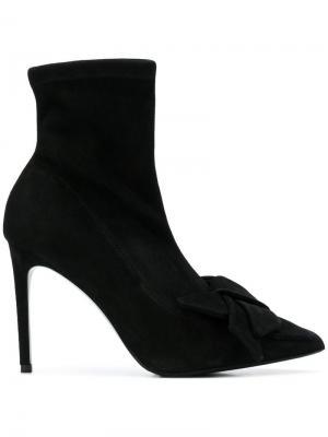 Bow pointed boots Alberto Gozzi. Цвет: черный