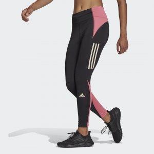 Леггинсы для бега Own Run Block 7/8 Performance adidas. Цвет: черный