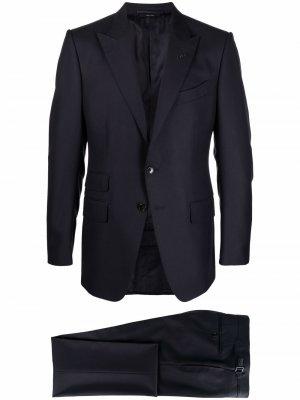 Костюм OConnor с однобортным пиджаком TOM FORD. Цвет: синий