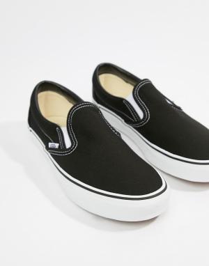 Черно-белые кеды-слипоны Classic-Черный цвет Vans