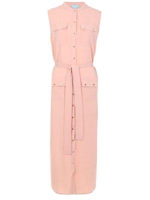 Платье-туника из вискозы MELISSA ODABASH. Цвет: розовый