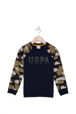 Свитшот U.S. Polo Assn.. Цвет: vr033 темно-синий, хаки