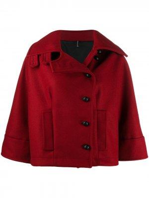 Куртка асимметричного кроя на пуговицах Pierantoniogaspari. Цвет: красный