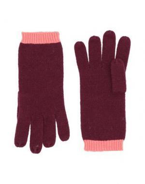 Перчатки CODELLO. Цвет: красно-коричневый