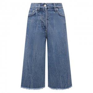 Джинсовые шорты Dries Van Noten. Цвет: синий
