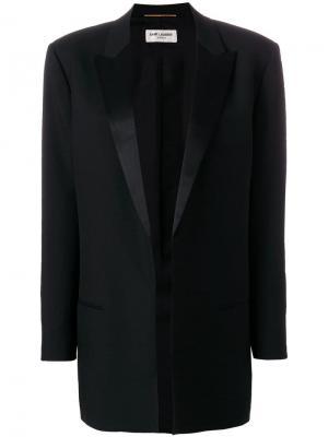 Блейзер-смокинг Saint Laurent. Цвет: черный