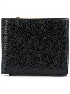 Складной кошелек для монет Thom Browne. Цвет: черный