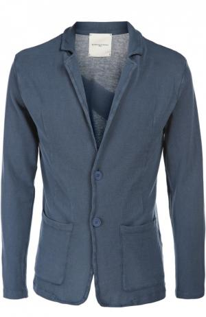Вязаный пиджак Daniele Fiesoli. Цвет: синий