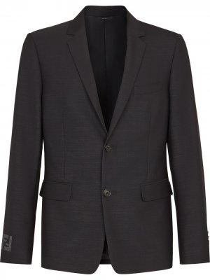 Однобортный пиджак Fendi. Цвет: черный