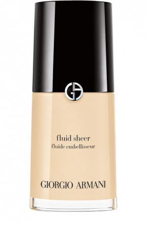 Флюид для сияния кожи Fluid Sheer, оттенок 001 Giorgio Armani. Цвет: бесцветный