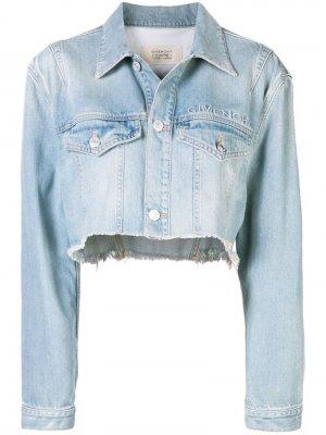 Укороченная джинсовая куртка Givenchy. Цвет: синий
