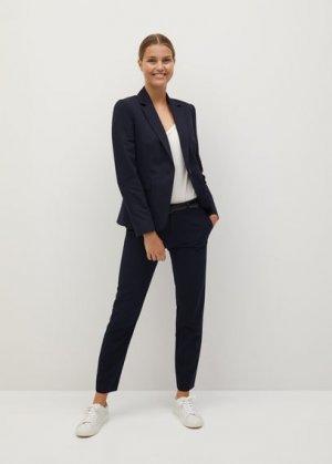 Костюмные брюки с ремнем - Boreal Mango. Цвет: темно-синий
