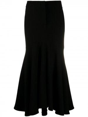 Расклешенная юбка макси Petar Petrov. Цвет: черный