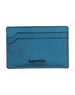 Чехол для документов LANVIN. Цвет: синий