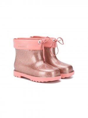 Резиновые сапоги с блестками Mini Melissa. Цвет: розовый