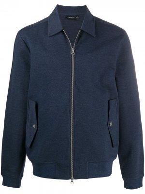Куртка на молнии J Lindeberg. Цвет: синий