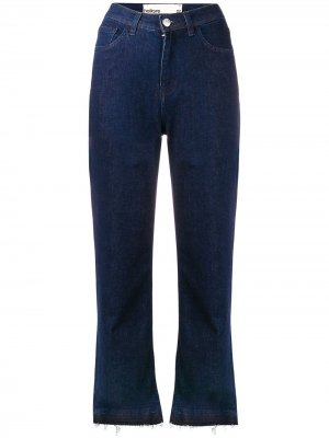 Расклешенные джинсы с бахромой Haikure. Цвет: синий