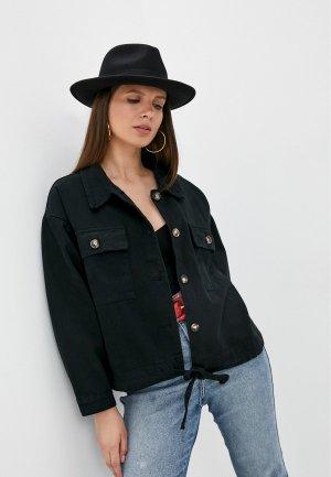 Куртка джинсовая Chic de Femme. Цвет: черный