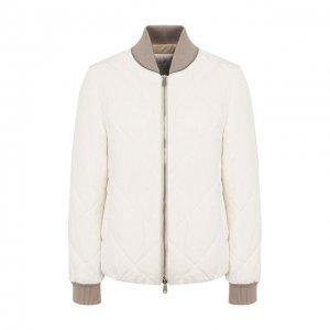 Пуховая куртка Brunello Cucinelli. Цвет: белый