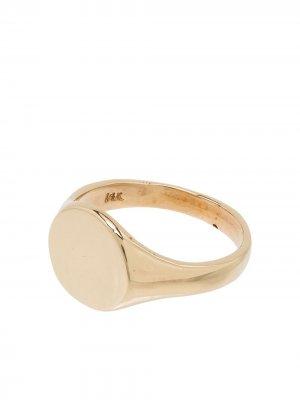 Кольцо-печатка из желтого золота Loren Stewart. Цвет: золотистый