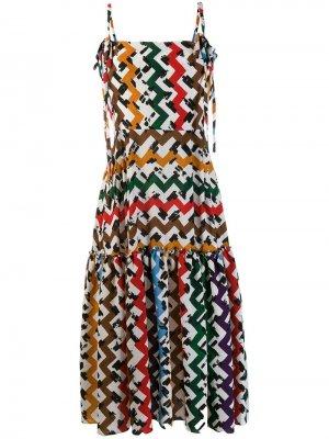Платье с принтом зигзаг Edeline Lee