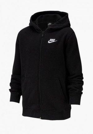 Толстовка Nike SPORTSWEAR BIG KIDS (BOYS) FULL-ZIP HOODIE. Цвет: черный