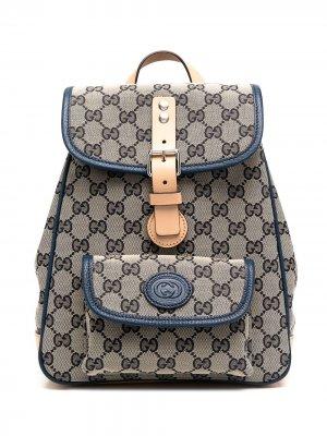 Рюкзак с узором GG Gucci Kids. Цвет: нейтральные цвета