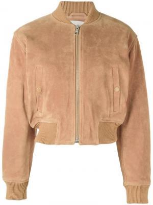 Укороченная куртка бомбер See By Chloé. Цвет: коричневый
