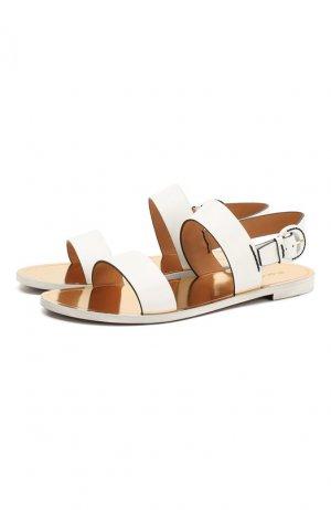 Кожаные сандалии Edlyn Ralph Lauren. Цвет: белый