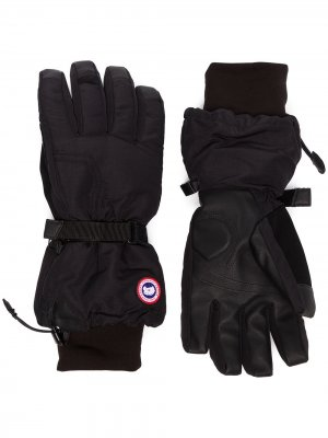 Утепленные перчатки Canada Goose. Цвет: черный