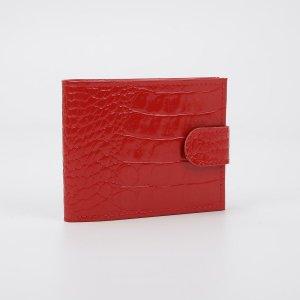 Кошелёк женский textura, отдел для карт и монет, цвет алый кайман TEXTURA