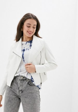 Куртка кожаная Softy. Цвет: белый