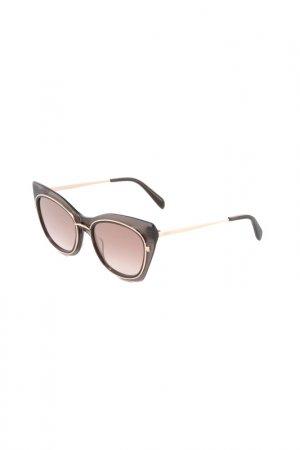 Очки солнцезащитные Emilio Pucci. Цвет: черный