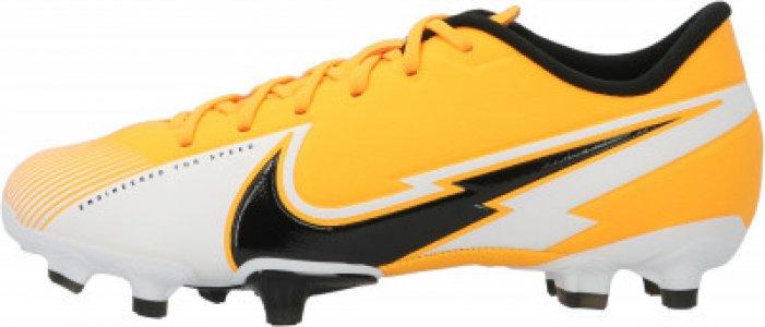 Бутсы для мальчиков Jr Vapor 13 Academy FG/MG, размер 34 Nike. Цвет: оранжевый