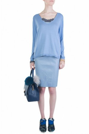 Пуловер MAX & MOI. Цвет: голубой