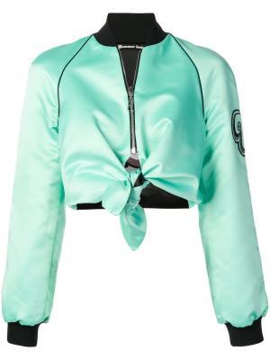 Двухсторонняя куртка-бомбер Pinko. Цвет: зеленый