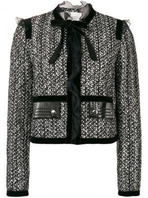 Твидовый пиджак с бантом Giambattista Valli. Цвет: черный