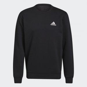 Флисовый джемпер Essentials Sportswear adidas. Цвет: черный