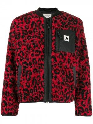 Фактурная куртка-бомбер Carhartt WIP. Цвет: красный