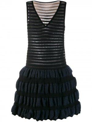 Трикотажное платье Alaïa Pre-Owned. Цвет: черный