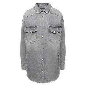 Джинсовая рубашка Iro. Цвет: серый