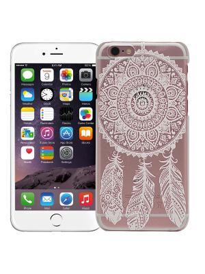 Чехол для iPhone 6/6s Мехенди Ловец снов (белый) Kawaii Factory. Цвет: розовый, белый